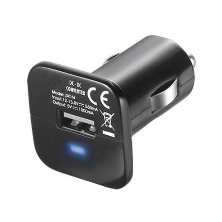 Solight USB nabíjecí autoadaptér 1000mA, DC 12V, černý